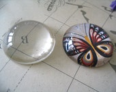 50pk...38mm Glass Tile Cabochons...Crystal Clear...Great for Magnets and Pendant Trays