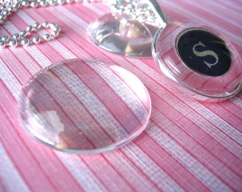 50...30mm Glass Tiles Cabochons...Great for Pendant Trays and Magnets