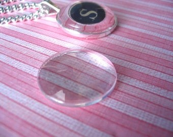 20pk...25mm Circle Glass Tiles Cabochons... Great for Pendant Trays and magnets.