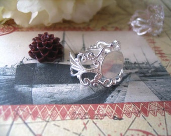10 Silver Filigree Rings...Adjustable Rings
