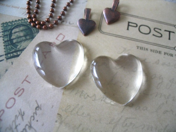 10...Heart Dome Glass tiles. Great for pendants and ornaments.