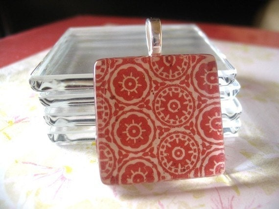 """COMBO..100 Bails-100 Glass Tiles - 1""""...Great for Magnets, Pendant Necklaces"""
