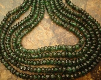 Precious Emerald 3.5-4mm REAL 50 FACETED Rondell 14 Carats ETSY-A