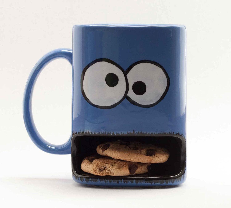 Cookie holder mug http www etsy com listing 73189699 cookie monster