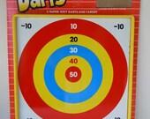 Vintage 1984 Super Darts Metal Target Board