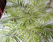 Reserved for Karine Green Wallpaper By the Yard Vintage 1980 Plants