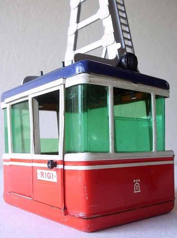 Vintage Lehmann Rigi Cable Car Toy West Germany
