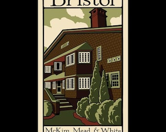 Bristol - McKim, Mead, and White in Rhode Island silkscreen print