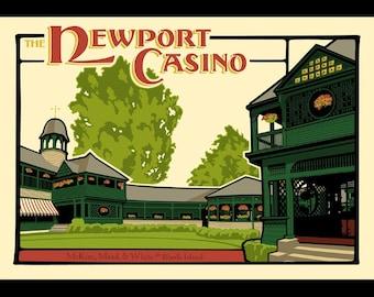 The Newport Casino - McKim, Mead, and White in RI silkscreen print