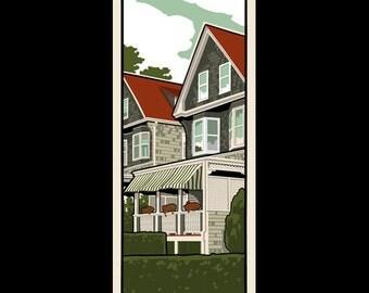 Rhode Island Homes - Jamestown silkscreen print