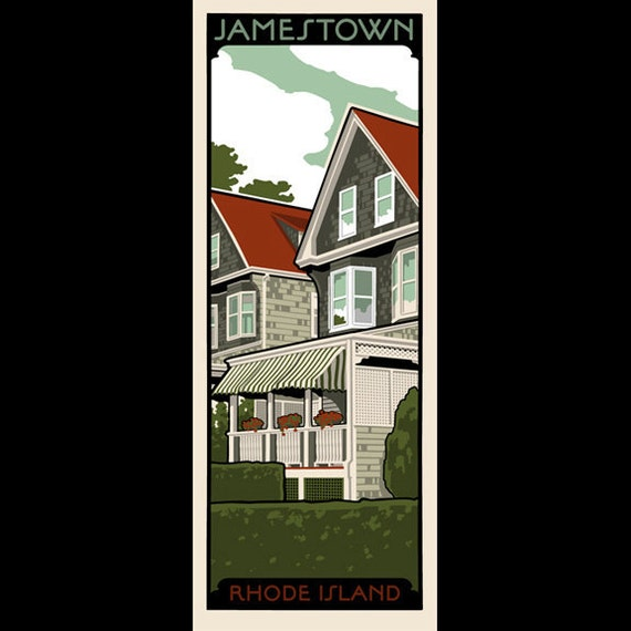 Rhode island homes jamestown silkscreen print for Rhode island home builders