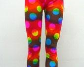 SALE  Rainbow Tie Dye Polkadot Leggings