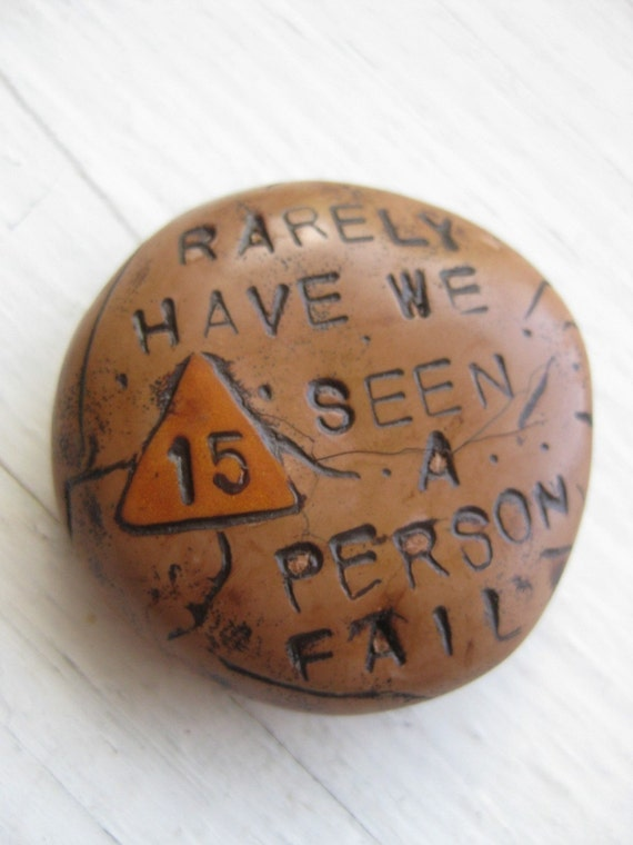 RESERVED FOR SELTZERGIRL--Custom Piece Handmade Polymer Sobriety Chip