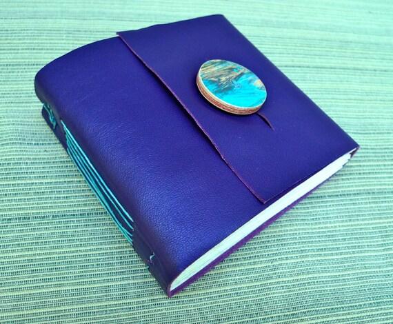 Super Fun Purple Leather Journal