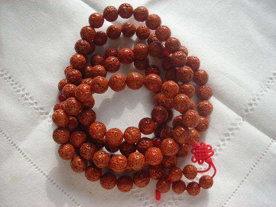 Rudraksha beads Mala prayer Buddhist meditation