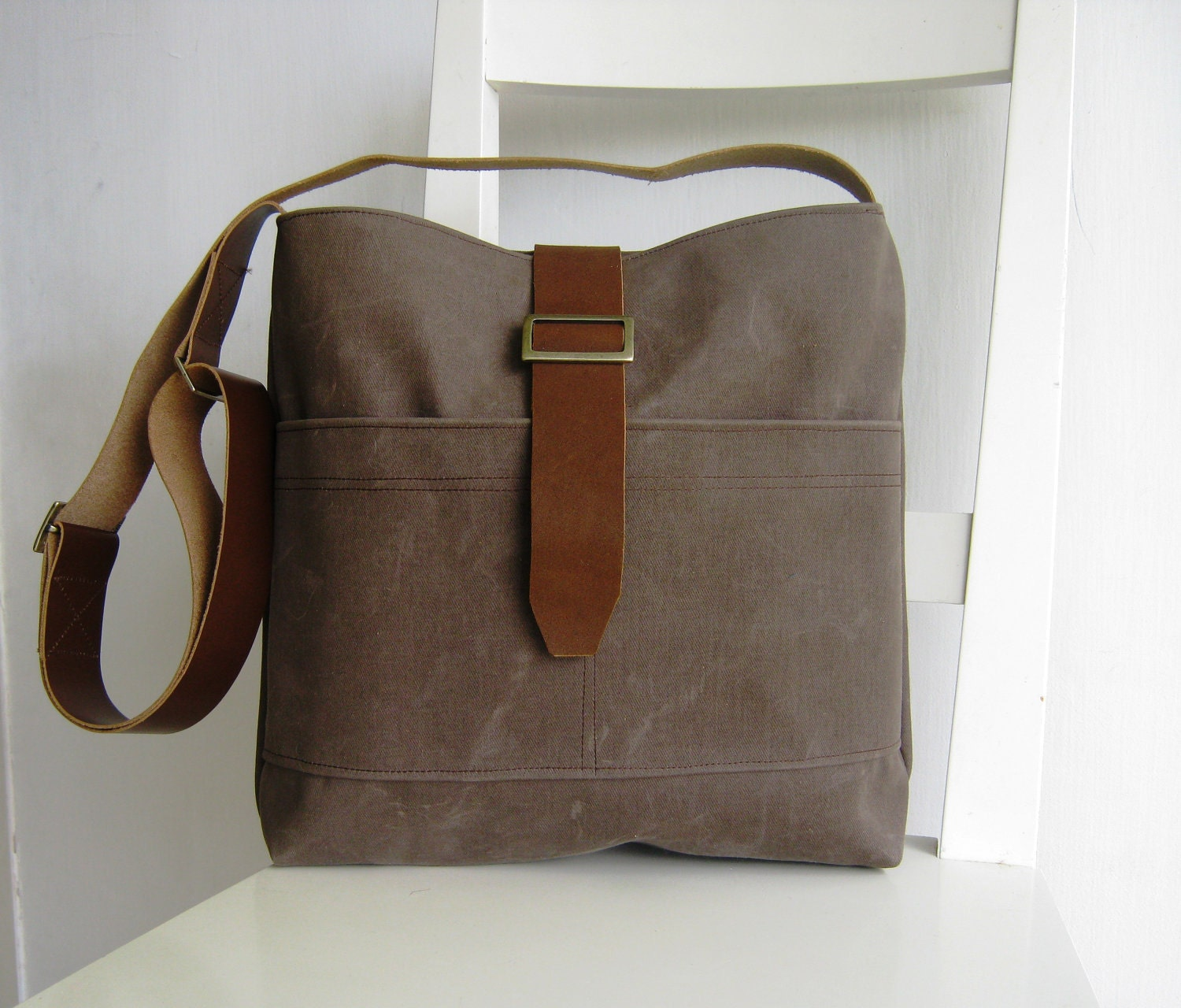 Unisex Waxed Canvas Bag