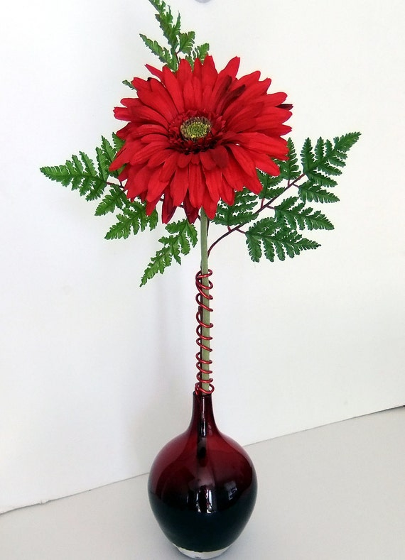 Gerbera Daisy in Glass Vase