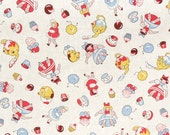 "Retro Children's Tea Party Fabric 54"" wide Yardage 5.99"