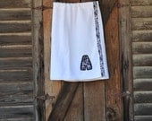 White and Black Spa Towel Wrap Great Gift for Mom, Wife, Bride and Bridesmaids, Sorority Sis