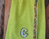 Lime green Spa Towel Wrap Great Gift for Mom, Wife, Bride and Bridesmaids, Sorority Sis
