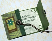 ACEO Green Nature - You Name the Quote (OOAK) Fern, Flower, Saying, John Burroughs, Personalized