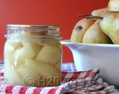 Pears ACEO Print - Home Canning, Comfort Food, Kitchen, Red, Yellow