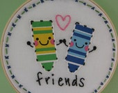 Hand Embroidery Hoop - Crayon Friends