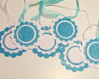 Glittery Holiday Gift Tags Set of 6