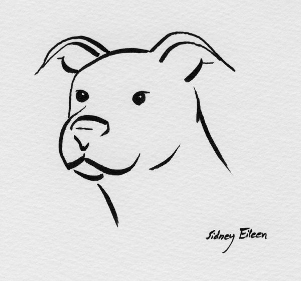 ART Minimalist Dog Friendly Bully Original Marker