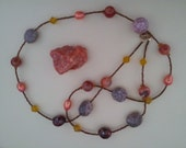 N007 Fire Agate Fresh water pearls and Carnelian Necklace.