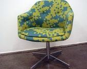 Vintage Chrome Swivel Chair