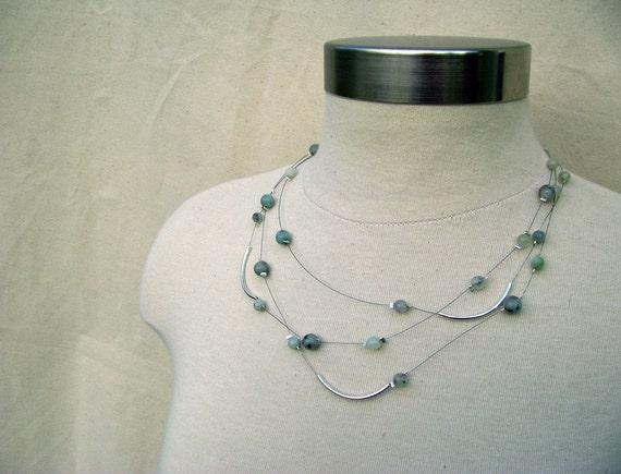 Constellation Necklace - Sesame Jasper and Wire