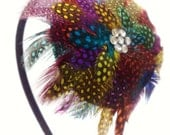Multicoloured Feathered Headband