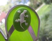 Green Gecko Flipflop Suncatcher