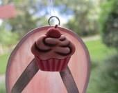 Coral/Pink Cupcake Flipflop Suncatcher