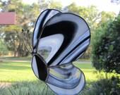 Black/White Swirl Butterfly Suncatcher