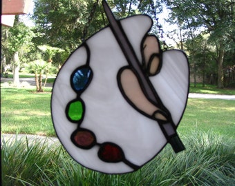 Paint Palette Sun Catcher
