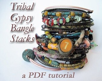 PDF Tutorial- Tribal Gypsy Bangle Stack.