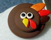Thanksgiving Turkey Brooch MADE TO ORDER