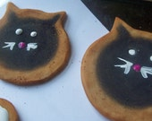 Black Cat Halloween faux cookie assortment 6 pieces