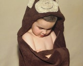 Monkey Hooded Towel -- Child size