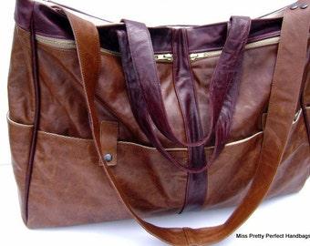 Extra Large Leather Travel Bag, Leather Work Bag, Weekender Bag, Overnight Bag, Leather Laptop Bag,