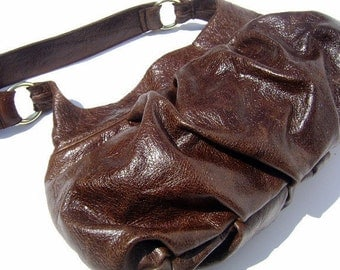 Leather Pleated Purse