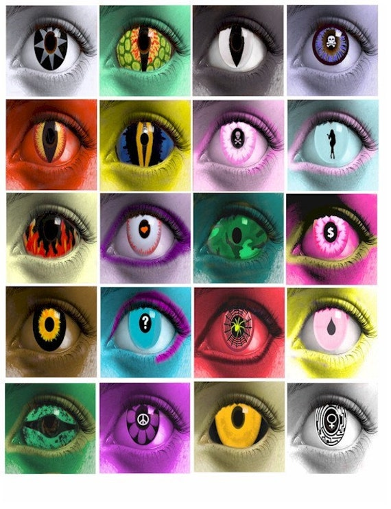 Items Similar To Womens Eyes Contact Lense Clip Art Evil