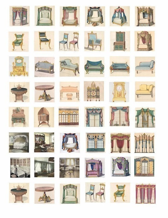 Vintage Victorian Furniture Windows Canopy Beds Chairs Couches