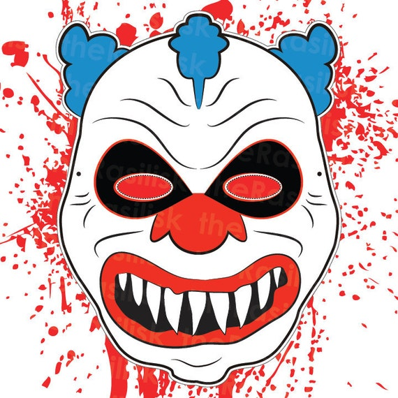 Geeky image pertaining to printable clown face