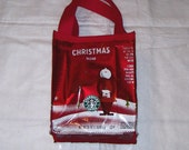 Eco Friendly Purse Gift bag made with Recycled Coffee Bags Christmas Holiday Gift bag