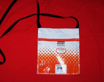 Fun Eco Friendly Purse or Pouch made with Recycled Coffee bags upcycled repurposed