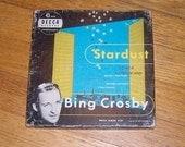 Vintage Bing Crosby 45's - 1949 Boxed Record Set - Bing Crosby Stardust Records - Vintage Vinyl Records - 45 RPM Record Set - Bing Crosby