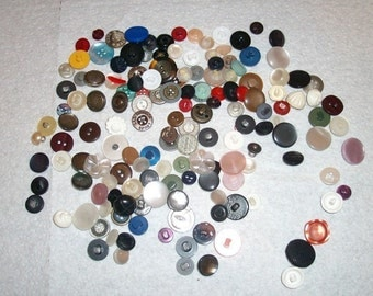 Assorted Shank Buttons - Large Assortment of Shank Buttons - Vintage to Modern Buttons - Assorted Sizes - Assorted Colors